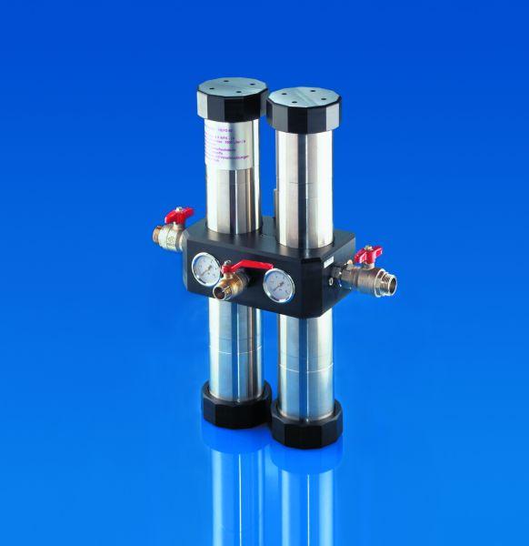 Carbonit QUADRO 60 R Einfamilienhaus-Wasserfilteranlage / Wasserdurchfluss ca. 66 Liter/Minute