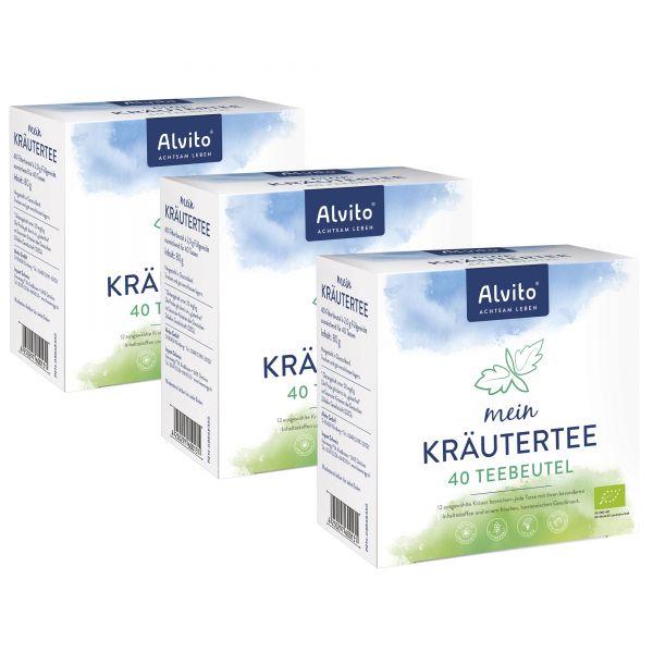 Alvito Mein KräuterTee 120 Teebeutel (3 x 40 Beutel) Bio