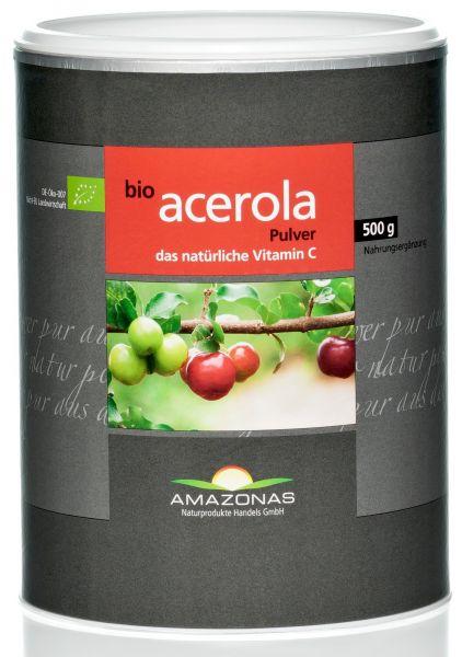 Bio Acerola Pulver Label