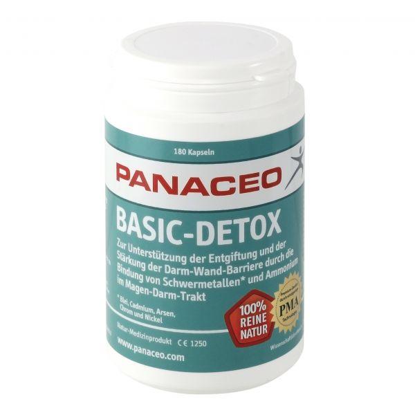 Panaceo Basic-Detox 180 Kapseln (90 g) / PMA-Zeolith / aktivierter Natur-Zeolith